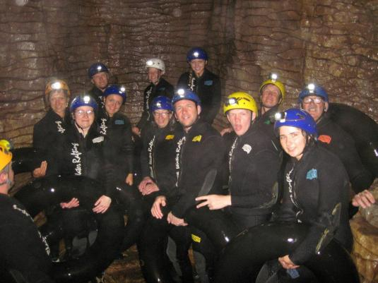 Black water rafting in the glowworm caves!