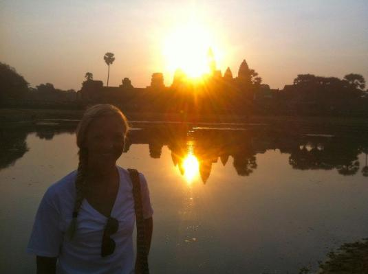 Angkor Wat at sunrise! :)
