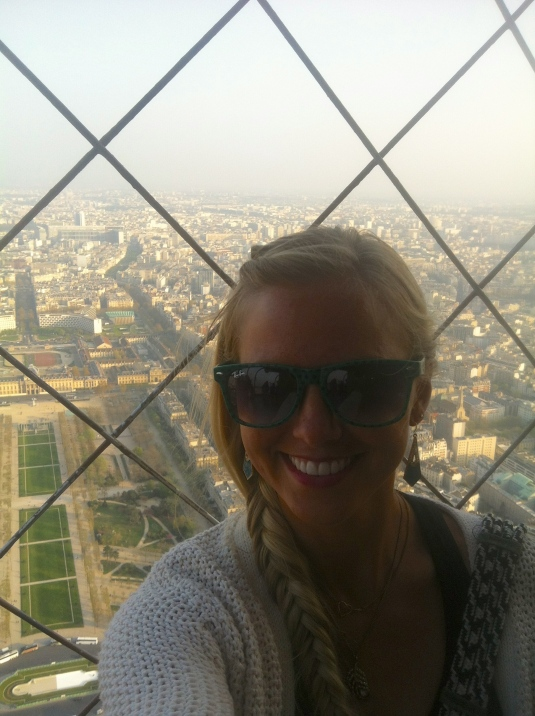 From atop the Eiffel at sunset :)
