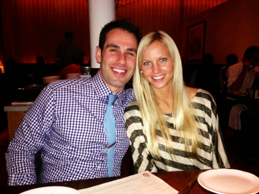 Jeremiah & I at my birthday dinner :)