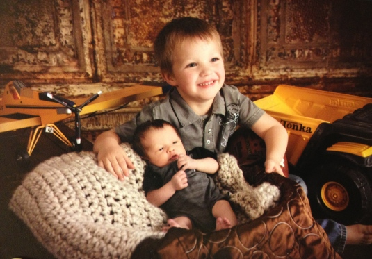 My two nephews Trayson and Hudson, the cutest kids on the planet :)