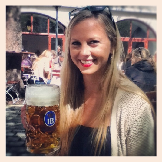 My litre o'beer at Hofbrauhaus :)